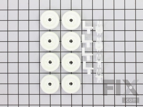11726733-1-S-GE-WD35X21038-Lower Rack Wheel Kit - 8 Pack